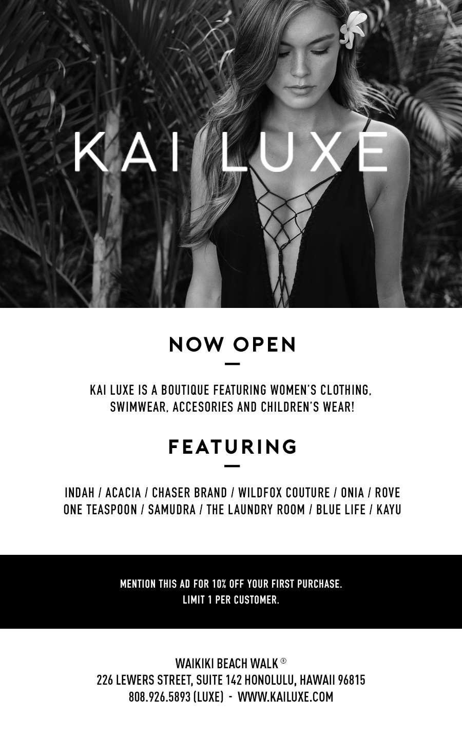 Kai Luxe Now Open