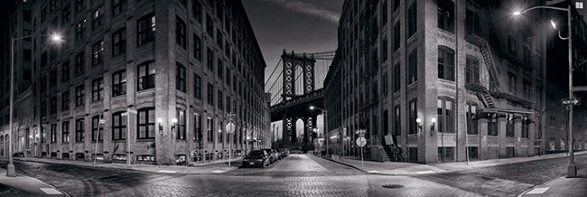 Black & white photograph of New York City's Manhattan Bridge, available at Peter Lik Gallery in Waikiki.