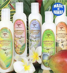 Selection of Botanical Hand and Body Lotions in different exotic scents.